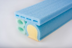 core support made of polyethylene and polyurethane foam