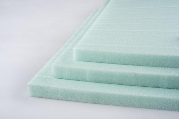 Flat green foam