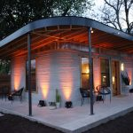 photo of completed 3D printed House