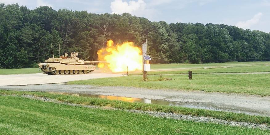 abrams tank blasting test